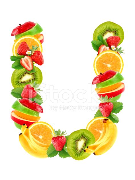 u fruity letter u with fruit stock photos freeimages