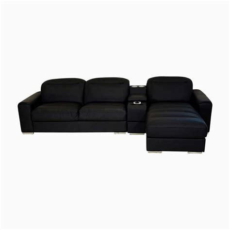 Godrej Sofa by Godrej Interio Acoustica L Shape Blk Sofa Leatherette 3