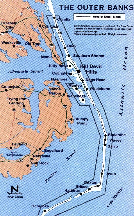map of outer banks outerbanksmap