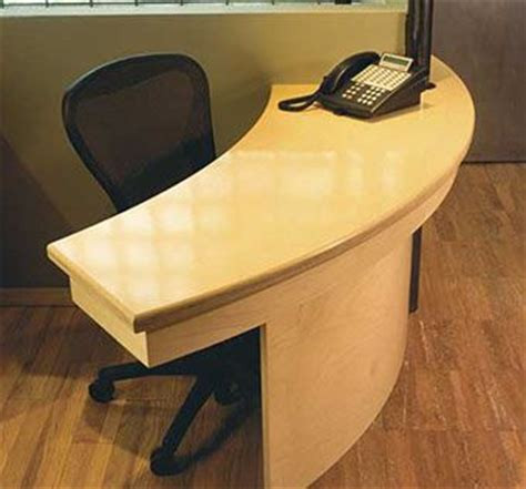 crafted curved reception desk by hudson cabinetry