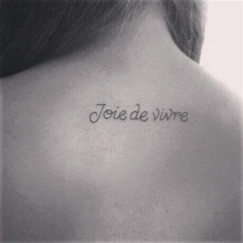 joie de vivre tattoo the gallery for gt joie de vivre