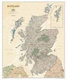 alte paletten 1587 the map of scotland shows the locations of the clans and