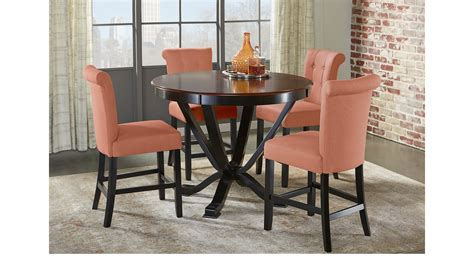 adelson chocolate 5 pc counter height dining room dining orland park black 5 pc counter height dining set