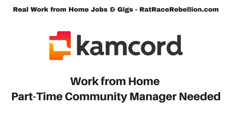 work from home part time community mgr needed real work