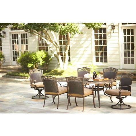 Martha Stewart Patio Dining Set Martha Stewart Living Miramar Ii 7 Patio Dining Set With Cushions 9011 Ovs3 Hd The