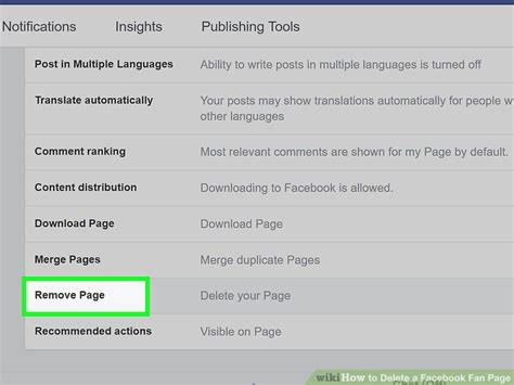 how to a fan page how to delete a fan page 14 steps with pictures