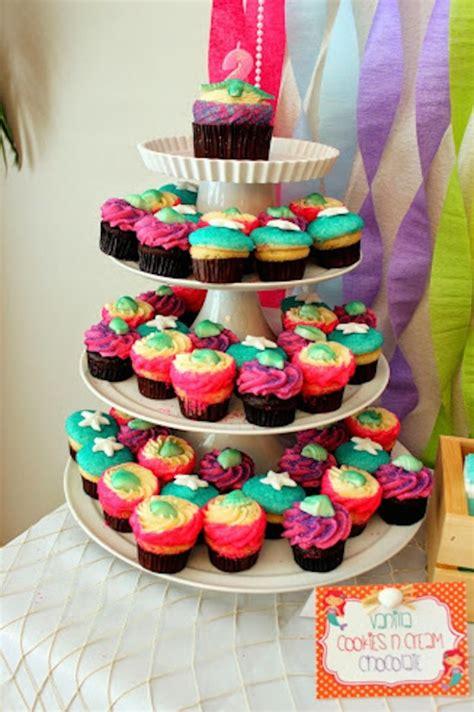 cupcake themed party games mermaid themed birthday party via kara s party ideas