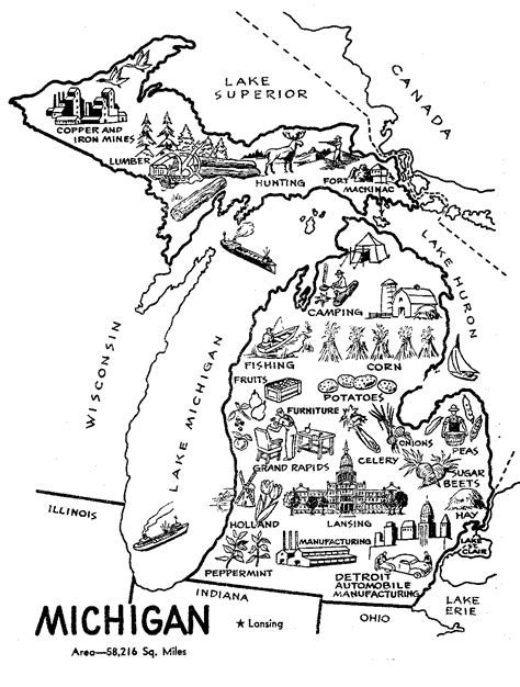 michigan flag coloring page coloring pages