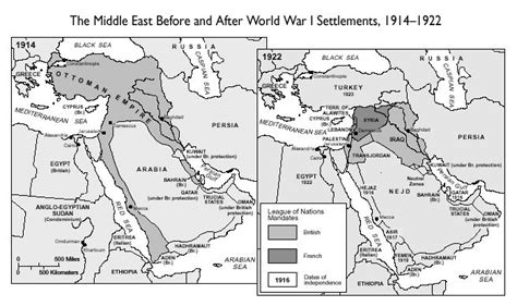 middle east map world war middle east before and after ww1 maps middle east and