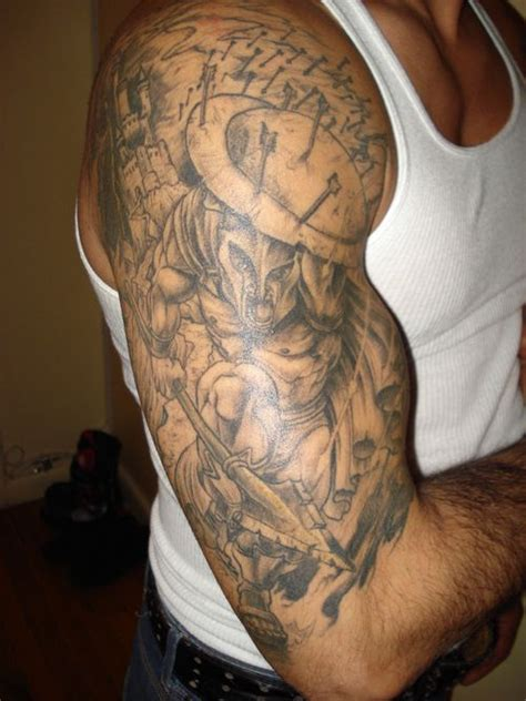 quarter sleeve christian tattoo christian sleeve tattoo designs for men html ideas angel