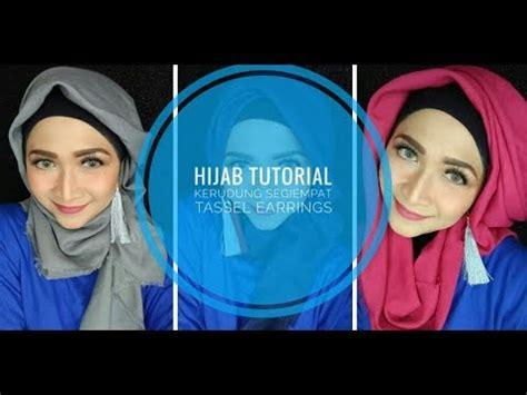 tutorial hijab menggunakan aksesoris anting tutorial hijab segiempat tassel earings anting jilbab