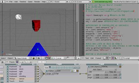 blender 3d python script game engine template game