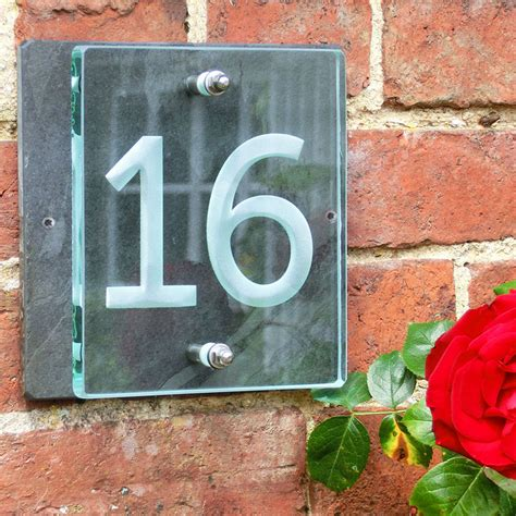 buy house number plaque buy a small glass house number sign tim carter