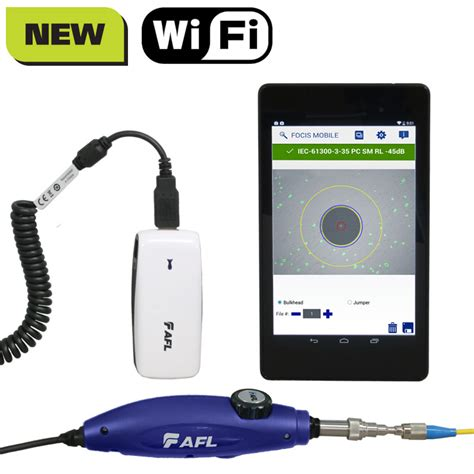 Wifi Fiber Optik focis flex fiber optic connector inspection system