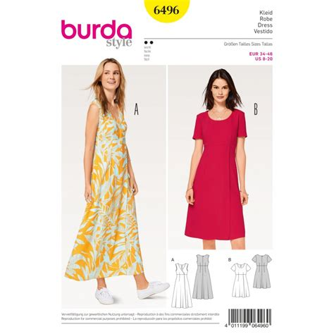 patron burda 2017 patron robe taille haute effet cache - Patron Robe Cache Coeur Femme Grande Taille