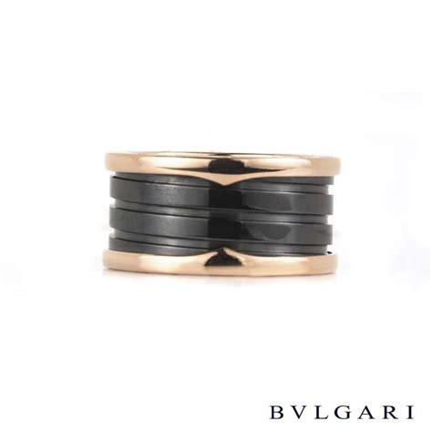 bvlgari jewelry an855563 bvlgari bzero1 black ceramic bvlgari 18k gold black ceramic b zero1 ring