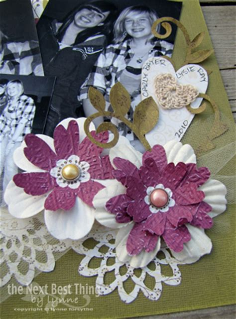 Make Paper Flowers Scrapbooking - memory 101 scrapbook page ideas and giveaway