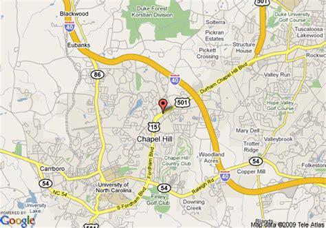 carolina map chapel hill map of sheraton chapel hill hotel chapel hill