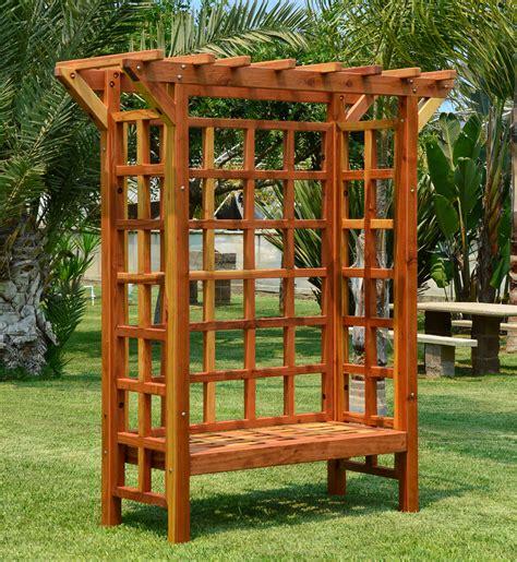 arbour bench garden arbor bench forever redwood