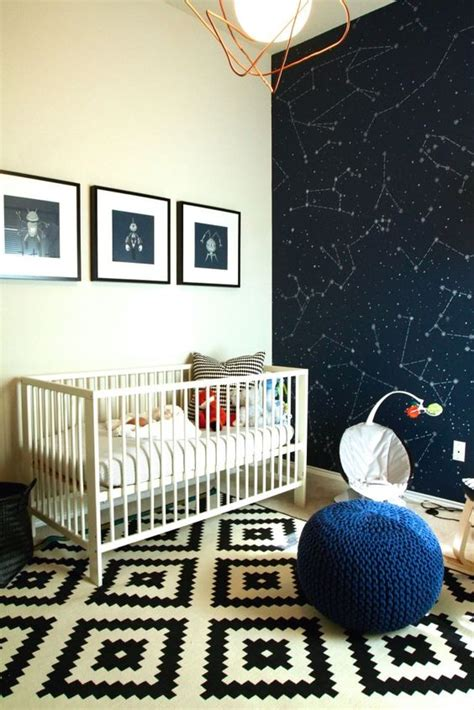 wallpaper in surprising spaces project nursery constellations modern nurseries and accent walls on pinterest