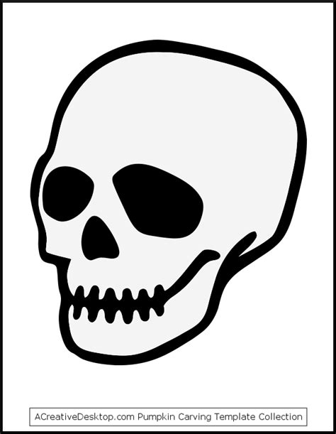 printable skull template skull and crossbones images free cliparts co