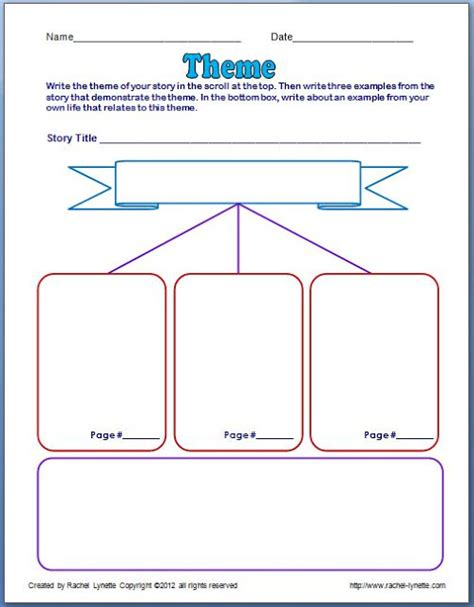 themes in stories worksheets theme graphic organizer search results calendar 2015