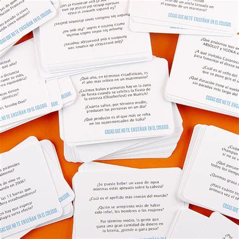 preguntas para reuniones de amigos juego de mesa cosas que no ense 241 an en el colegio