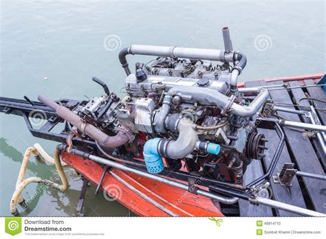 long tail boat motor long tail boat engine stock photo image 46814710