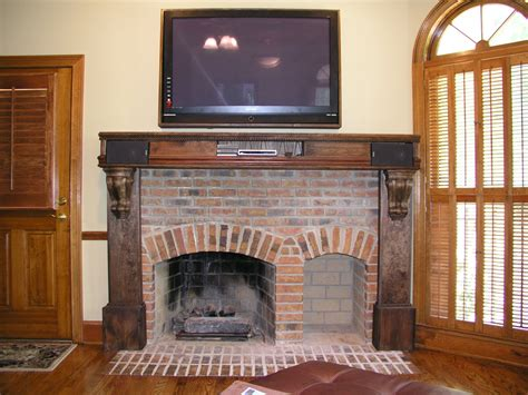 interior interior accent ideas using brick fireplace
