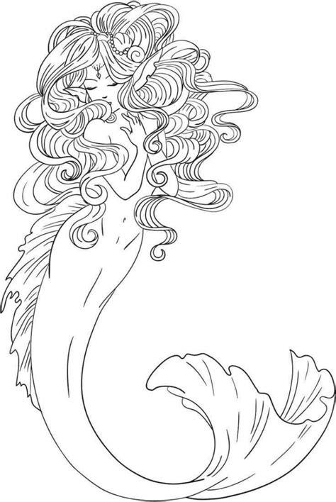 mermaid coloring 30 stunning mermaid coloring pages