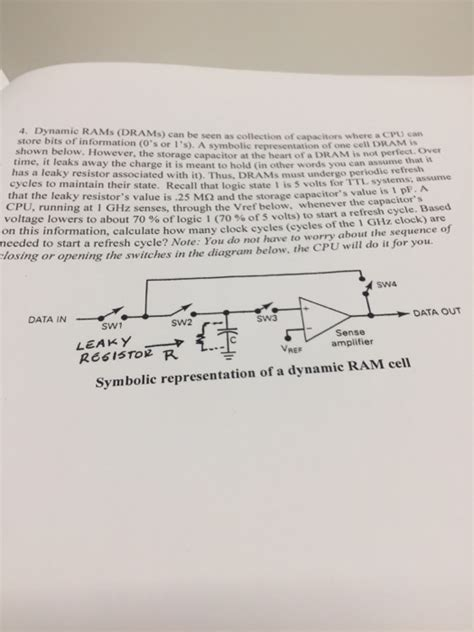 capacitor value representation dynamic rams drams can be seen as collection of ca chegg