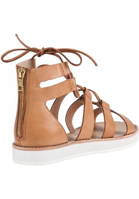 steve madden gladiator sandals lyst steve madden marvell gladiator sandals in brown