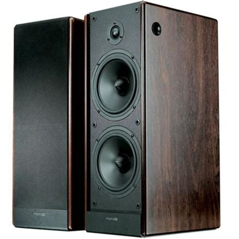 microlab solo7c 110w wood bookshelf stereo speakers