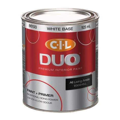 cil duo cil duo interior eggshell white 917ml the home depot canada