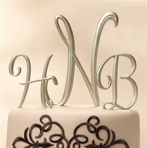 Monogram Wedding Cake Toppers by 301 Moved Permanently
