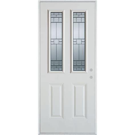 prehung exterior door home depot stanley doors 32 in x 80 in architectural 2 lite 2 panel