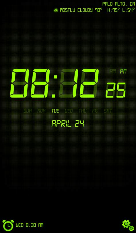 Nightstand App Android by Alarm Clock Weather Nightstand Kindle