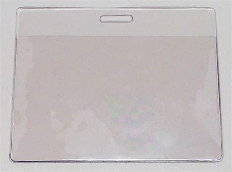 porta badge plastica porta badge orizzontale in plastica morbida trasparente