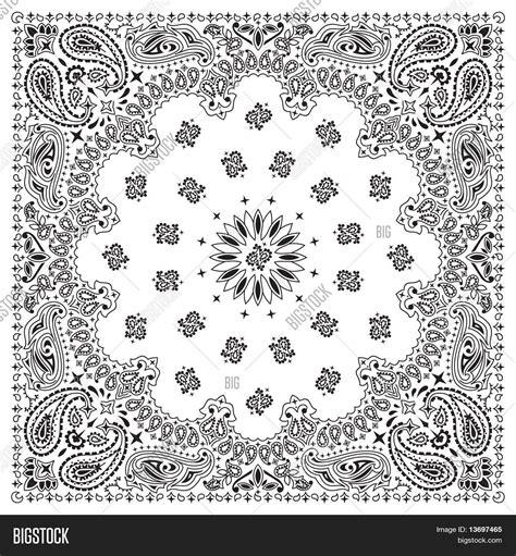 bandana pattern ai bandana white stock vector stock photos bigstock
