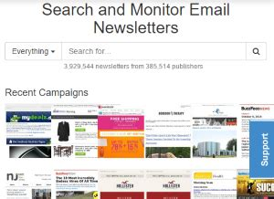 Email Search Engine Free Search Engine To Search For Email Newsletters Notablist