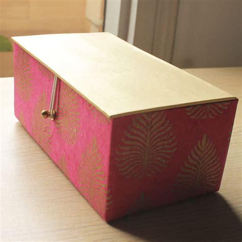 Handmade Paper Boxes - gulabi handmade paper gift box shopping