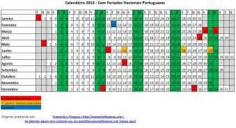 Calendã 2018 Feriados Nacionais Portugal Calend 225 2013 Para Impress 227 O Excel Portugal Economia