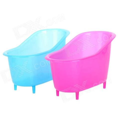 Plastic Bathtub Creative Bathtub Plastic Storage Box Pink Blue 2