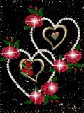 wallpaper gif rose love heart rose animated mobile wallpaper