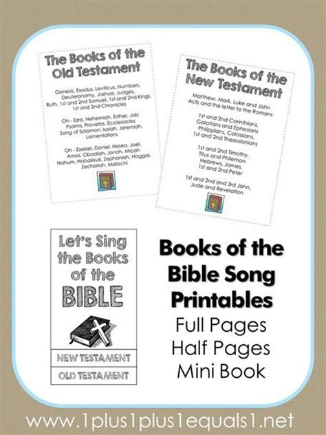 books of the bible song printables free printables old
