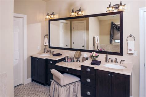Bathroom Vanities With Makeup Desk Home Furniture Design Make Bathroom Vanity