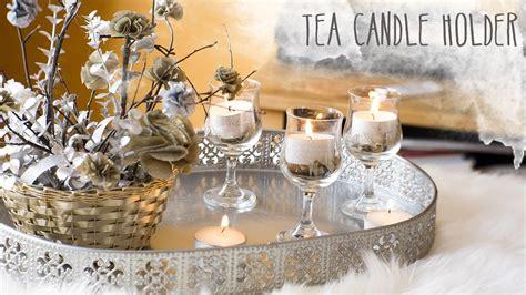 diy tea candle holder decor ideas nekkoart youtube