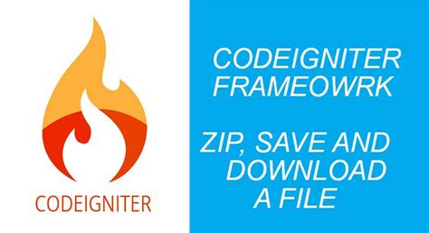 codeigniter mongodb tutorial how to zip save and download a file in codeigniter