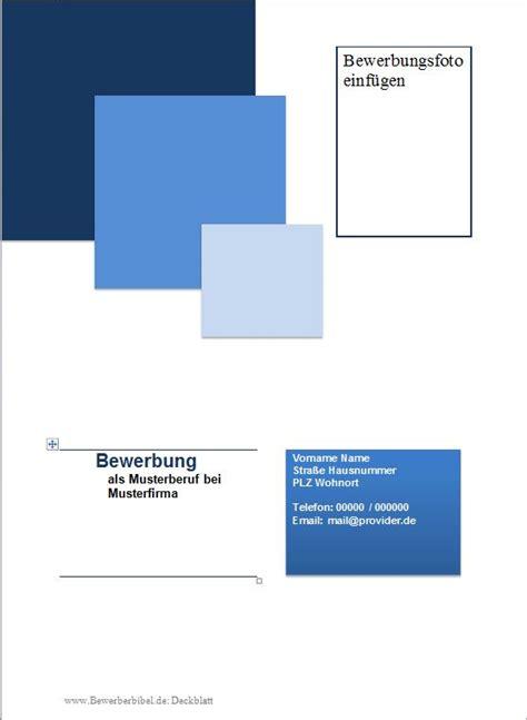 Bewerbung Deckblatt Word Kostenlos Bewerbung Deckblatt Muster Vorlage Beispiel Downloaden