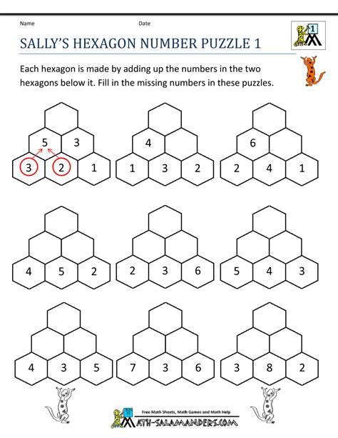 printable maths jigsaw puzzles free printable math puzzle worksheets 1000 ideas about